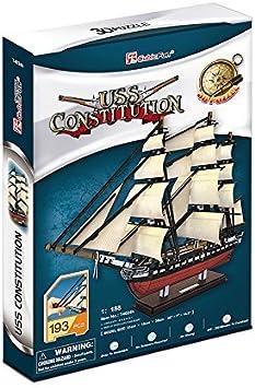 Regalo y Decoraci/ón para Adultos y Ni/ños CubicFun Puzzles Modelo 3D Barco y Barco Titanic Peque/ño 35 Piezas