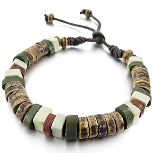INBLUE Womens Ceramic Bracelet Adjustable