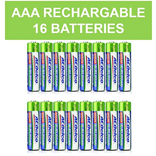 ACDelco AAA Insta-Use Rechargeable Batteries, Precharged, 16 Count