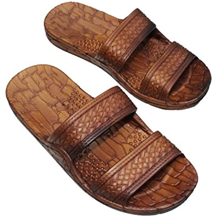 IMPERIAL SANDALS HAWAII Women Double Strap Jesus Style Hawaii Sandals, Unisex Sandal for Women Men and Teens
