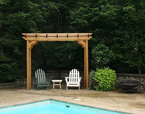 Cedar New Dawn Pergola Size 4 x 10 , Finish No Finish