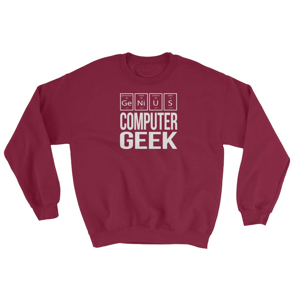 Genius Geek Periodic Table of Elements Sweatshirt Sweatshirt