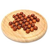DHmart 14CM Chessboard Toy Wood Strategy Game Great for Individual Play Circular Wooden Board & Wooden Beads Develop Strategic Mind