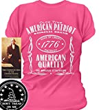 Sons of Libery Old Time American Patriot. Wom Pink/XL T-Shirt