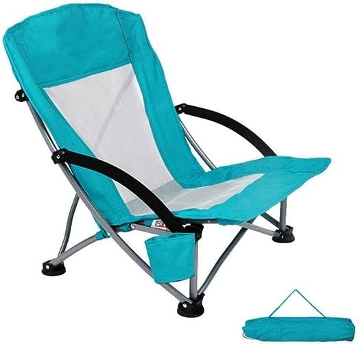 Yqzq Silla de pesca plegable for acampar Asiento Silla de playa de ...
