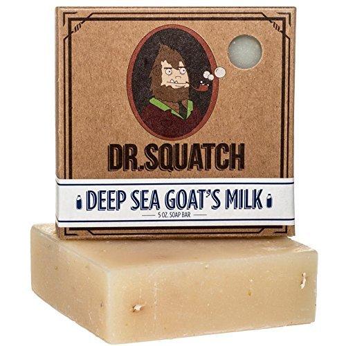 Dr. Squatch - Deep Sea Goat's Milk Bar Soap - Moisturizing for Dry Skin, 5 Oz.