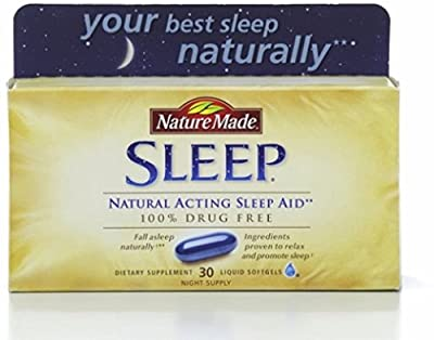 Nature Made Natural Sleep Aid Liquid Softgels 30 ea