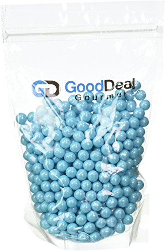 Powder Blue Shimmer Sixlets Candy 1LB Bag