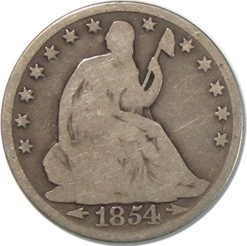 1854 Seated Liberty Half Dollar 50C Very Good