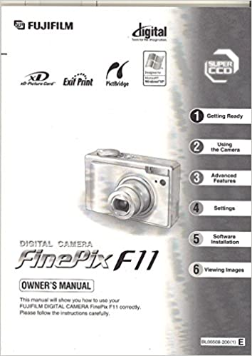 Fujifilm FinePix F11 Digital Camera Original Owner's Manual: Amazon