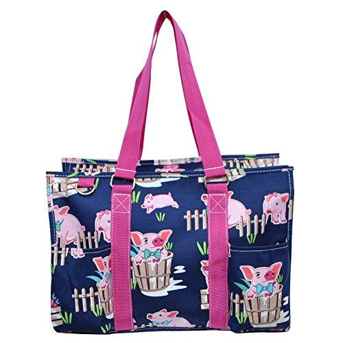 N Gil All Purpose Organizer Medium Utility Tote Bag 3 (Pig Hot Pink) Pink All Purpose Totes
