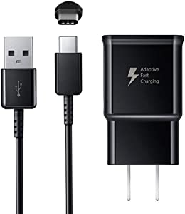 Fast Charger Compatible Samsung Galaxy S9 S9 Plus S8 S8 Plus S10 S10 Plus Note 8 Note 9, Adaptive Fast Charging Wall Charger Plug with USB Type C Cable Compatible Samsung Galaxy S8 S9 S10 Note 8 9 10