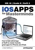 iOS Apps for Masterminds leads the reader step by step to master the complex subjects required to create applications for iPhones and iPads. After reading this book, you will know how to program in Swift, how to design user interfaces, and how to wor...