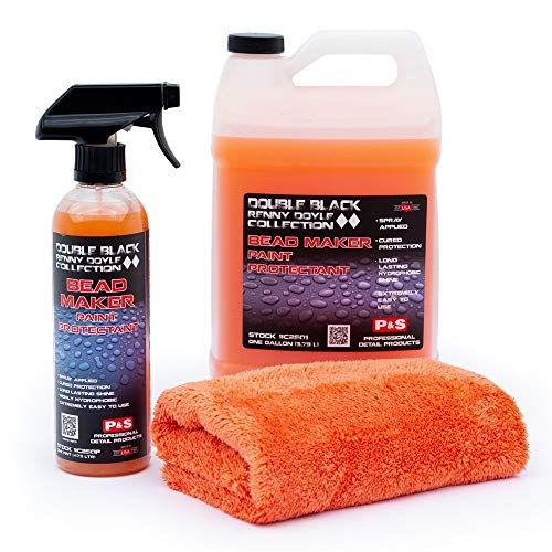 P&S Detailing Products C2501 + C250P Bead Maker Paint Protectant Combo Kit (1 Gallon + 1 Pint) with Free Bead Maker Ultimate Microfiber ()