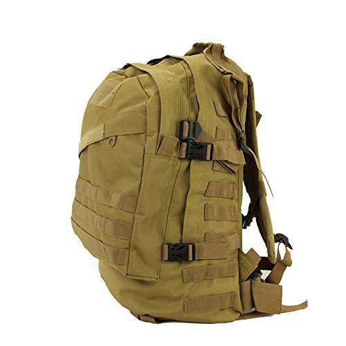 40L 3D Outdoor Tactical Military Backpack Rucksack Trekking Hiking Camping Bag #Earth