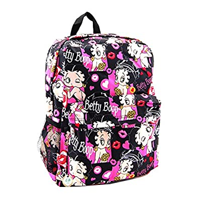 Betty Boop Microfiber Large Backpack with 16 Inches Height (Multi)   Kids' Backpacks
