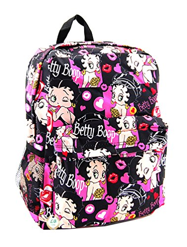 Betty Boop Microfiber Large Backpack with 16 Inches Height (Multi)