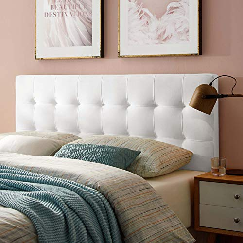 Modway Lily King Biscuit Tufted Performance Velvet Headboard, White