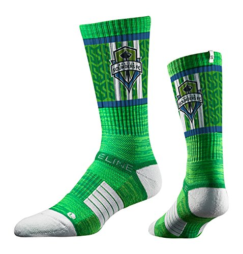 Strideline MLS Seattle Sounders FC Premium Athletic Crew Socks, Green, One Size