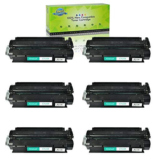 NineLeaf Compatible High Yield Toner Cartridge Replacement for HP C7115X 15X Laserjet 1000 1005 1150 1200 1300 3300 3310 3320 3330 3380 Laser Printer (Black,6 Pack)