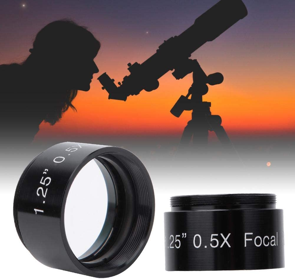 Serounder 1.25-inch 0.5X Focus Reducer Lens for Telescope Eyepiece Photography and Observing Accessory