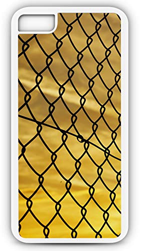 - iPhone 8 Plus 8+ Case Baseball Softball Sunset Backstop Fence Mesh Evening Customizable by TYD Designs in White Plastic Black Rubber Tough Case