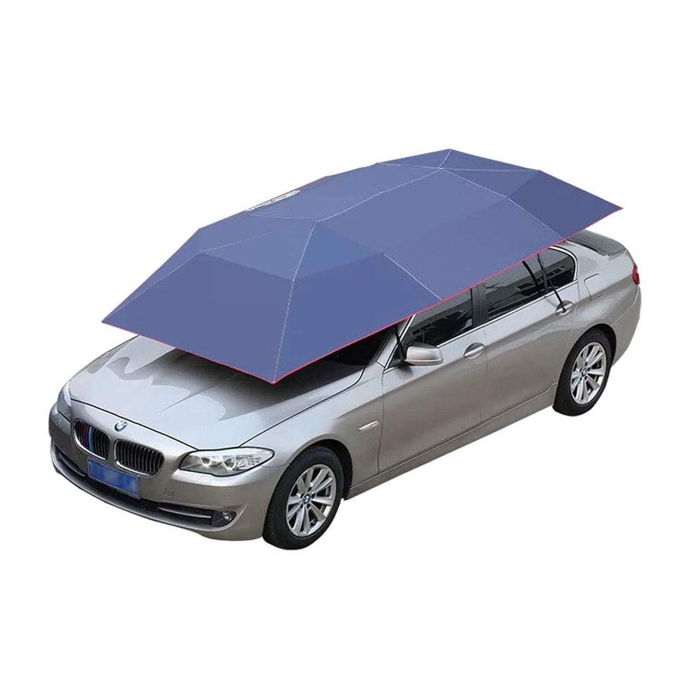 Car Umbrella Cover Car Automobile Movable Folded Portable Sun Proof Protection Umbrella Cover Tent canopy (157.48''X86.62'') wusheng
