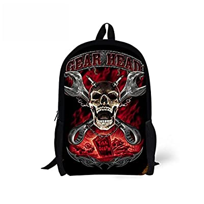 UNICEU Fashion Skull Travel Backpacks for Womens Mens Boys Girls School Bookbags 60%OFF