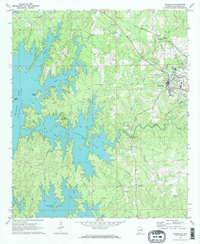 YellowMaps Dadeville AL topo map, 1:24000 Scale, 7.5 X 7.5 Minute, Historical, 1971, Updated 1984, 26.8 x 21.9 in - Paper ()