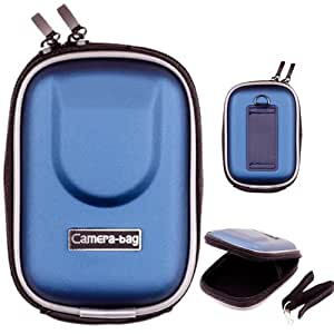 LUPO - Funda rígida impermeable universal para cámara de fotos digital (dimensiones: 95 x 65 x 20mm), color azul