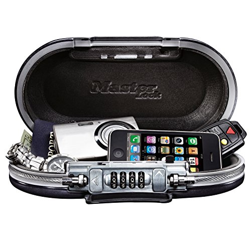 Master Lock 5900D Set Your Own Combination Portable Safe, 9-17/32 in. Wide, Gunmetal Grey (Best Way To Hide Money While Traveling)