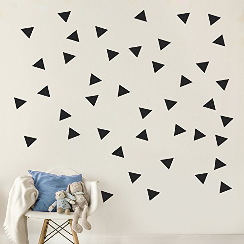 Triangle Wall Pattern Vinyl Decal Stickers (Black 3