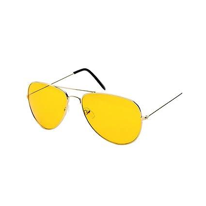 03639e673be9fc Lunettes de Vision Nocturne, Sunenjoy Lunettes de Soleil Aviateur Hommes  Femmes Lunettes de Soleil UV