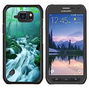 """Be-Star Único Patrón Plástico Duro Fundas Cover Cubre Hard Case Cover Para Samsung Galaxy S6 active / SM-G890 (NOT S6) ( El bambú chino Cascada Arroyo"""" )"""