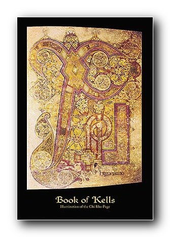 Book Kells Illumination Poster Print