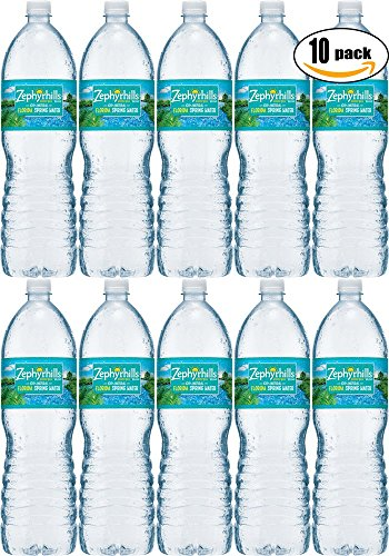 Zephyrhills Natural Spring Water, 16.9 Fl Oz Bottle (Pack of 10, Total of 169 Fl Oz)
