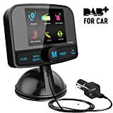 In Car DAB+ Radio Adapter FM Transmitter,[2.4' Colorful Screen] Bluetooth Receiver Hands-free Car Kit MP3 Music Play, DAB Portable Radio Adaptor with Crystal Sound/USB Car Charger/AUX/LCD Display
