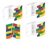 Building Block Party Invitations - 24 Pieces