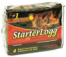 Pine Mountain Firestarters StarterLogg Firestarting Blocks, 4 Count (Pack of 6)