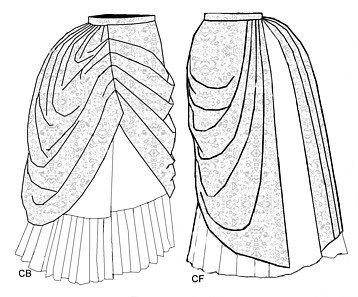 1886 Asymetrical Drapery Add-on Pattern