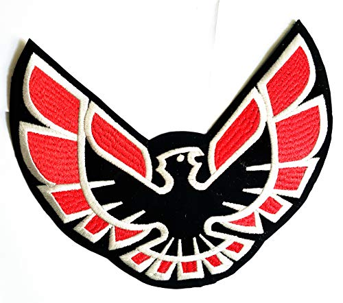"""9.5"""" X 7.7"""" Bald Pontiac Firebird Eagle Hawk Bird Flying Motorsport Patch Logo Jacket t-Shirt Jeans Polo Patch Iron on Embroidered Logo Motorcycle Rider Biker Patch by Tour les jours Shop"""