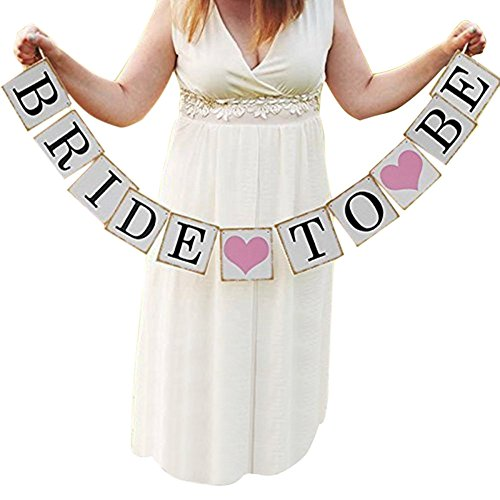 Bride to Be Wedding Banner Bride Garland Wedding Sign Photo Prop Wedding Party Decoration]()