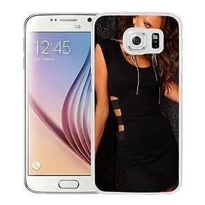 NEW Unique Custom Designed Samsung Galaxy S6 Phone Case With Irina Shayk Black Dress_White Phone Case