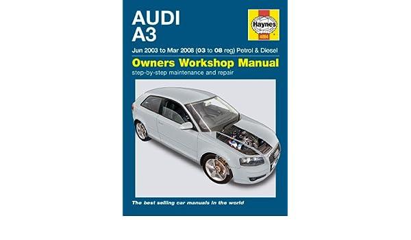 Haynes - Manual para choche Audi A3 1.9 2.0 TDi 1.6 2.0 Turbo 2003-2008, idioma español no garantizado: Amazon.es: Coche y moto