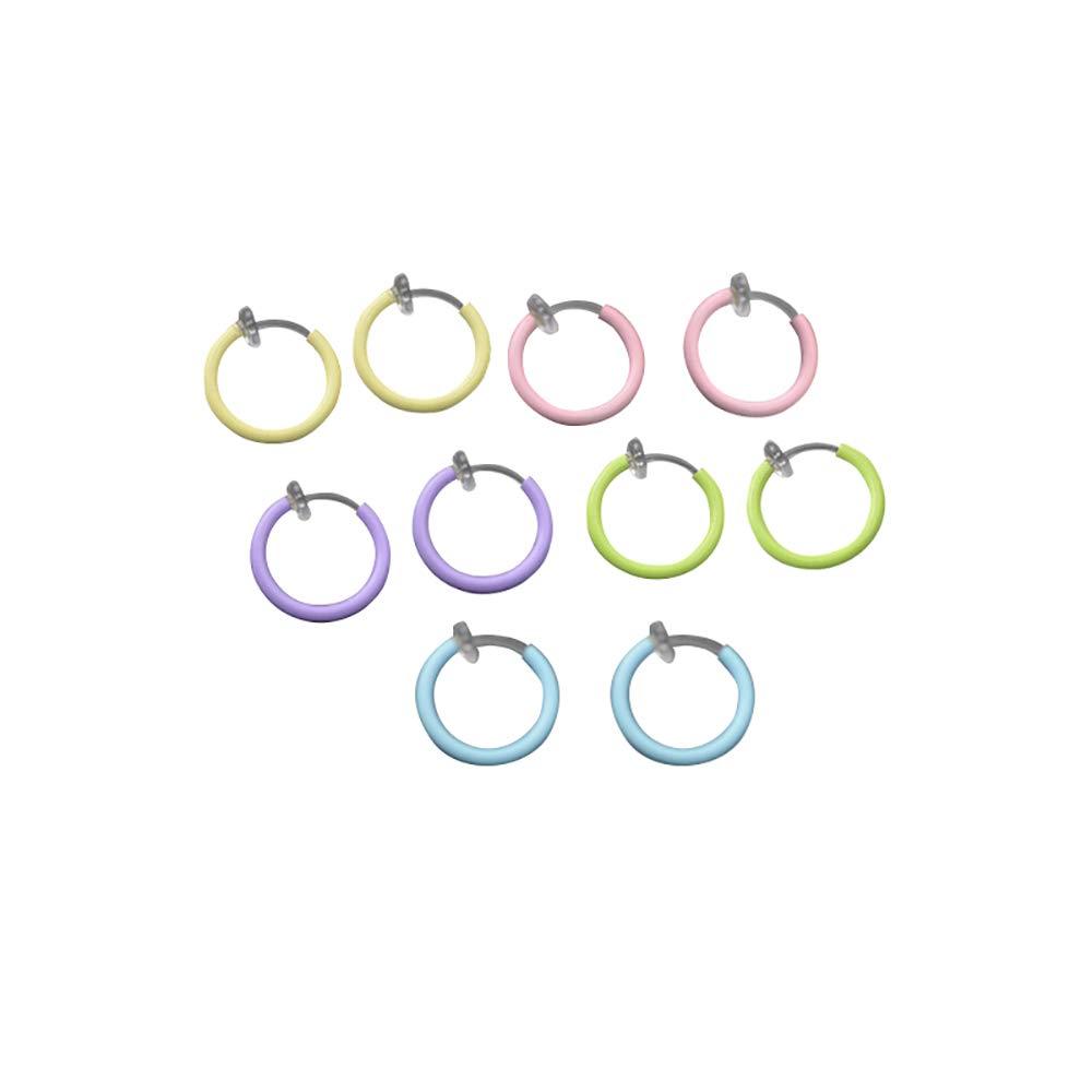 Kulanashiping Fake Nose Ring Luminous Non Hoop Nightclub Highlighting Fake Body Piercing by Kulanashiping