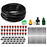 "Kalolary 82ft Micro Drip Irrigation Kit System, DIY Plant Garden Hose Watering Kit, with 1/4"" Blank Distribution Tubing Hose for Agriculture,Lawn, Plants, Garden, Patio, Greenhouse"