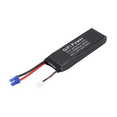 Candybarbar Batería de Gran Capacidad 7.4V 3000mAh Batería de Lipo de Repuesto Mejorada Batería Ligera de Drone para Drone Hubsan H501S: Juguetes y juegos