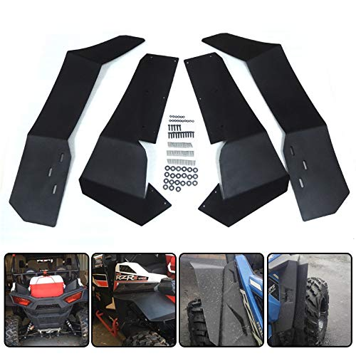 Set of 4 Extended Fender/Flares Mud/Flaps for Polaris RZR-S/900 RZR-S/1000/RZR-4/900 2015-2019 UTV Front /& Rear Mud Guards