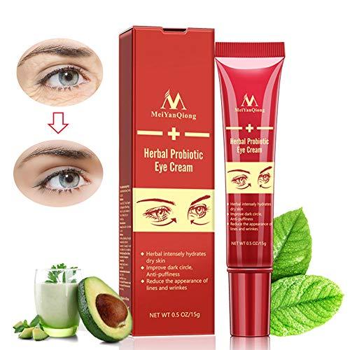 Herbal Probiotic Eye Cream, LEEGOAL 2018 NEW Anti-Aging Eye Skin Care Treatment for Dark Circles, Puffiness & Wrinkles, Eye Bags and Crow's Feet, 15ml