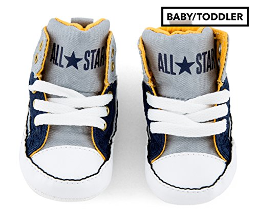 (Converse Infant CTAS First Star High Street Hi Wolf Grey/Midnight Navy 857432C (2 M US Infant))